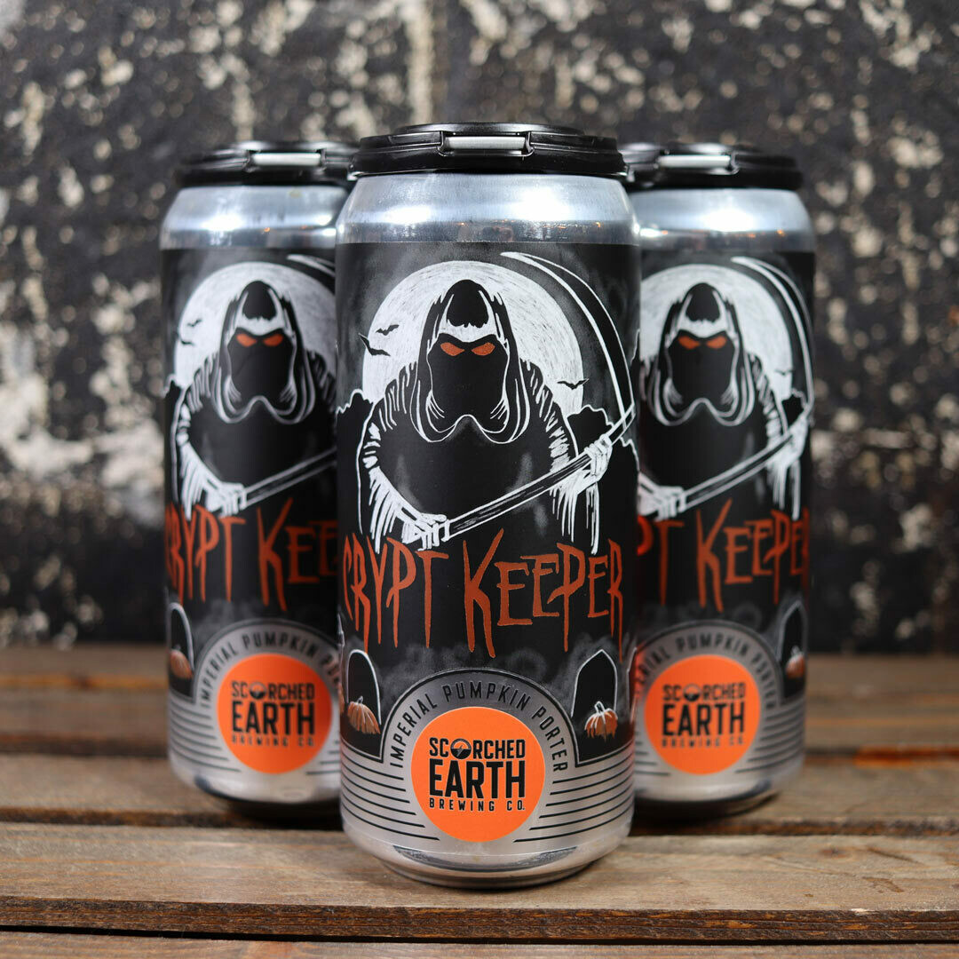 Scorched Earth Crypt Keeper Imperial Pumpkin Porter 16 FL. OZ. 4PK Cans