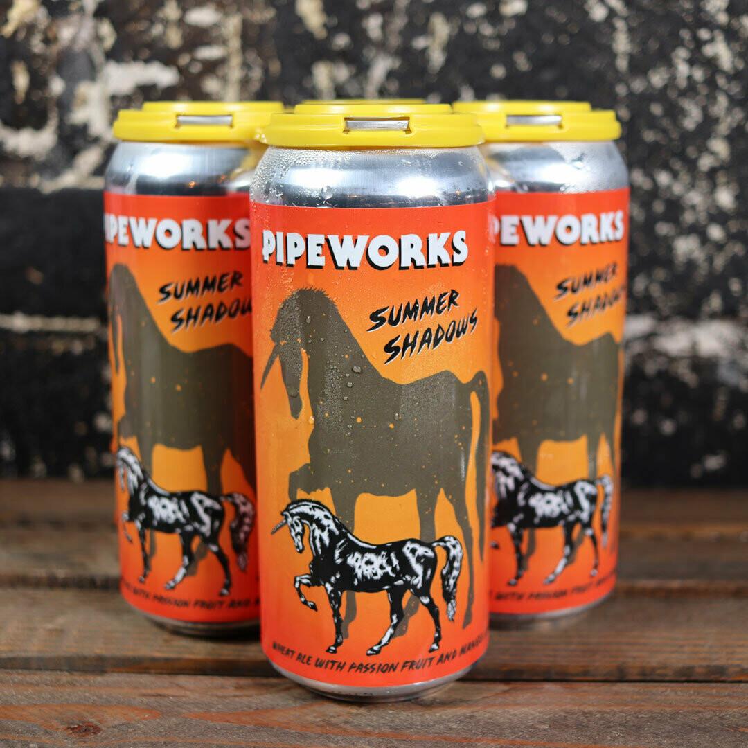 Pipeworks Summer Shadows Wheat Ale w/Passionfruit & Mango Juice 16 FL. OZ. 4PK Cans