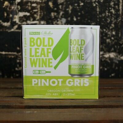 Bold Leaf Wine Pinot Gris 375ml. 2PK Cans