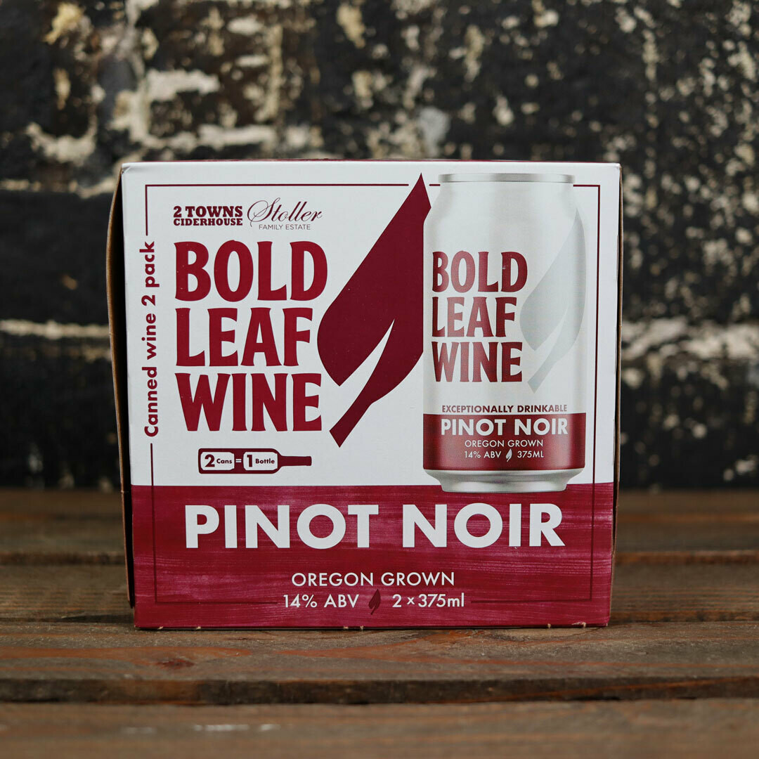 Bold Leaf Wine Pinot Noir 375ml. 2PK Cans