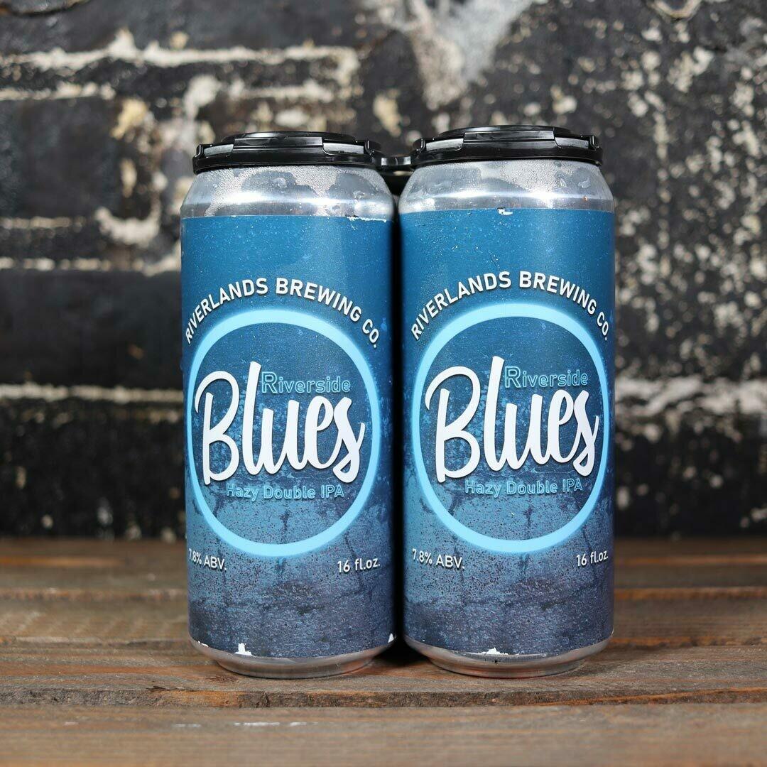 Riverlands  Riverside Blues Hazy DIPA 16 FL. OZ. 4PK Cans