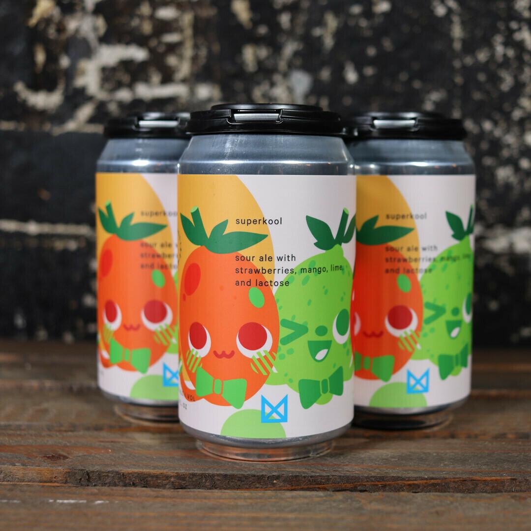 Marz Superkool Sour Ale w/Strawberries, Mango, Lime, & Lactose 12 FL. OZ. 4PK Cans
