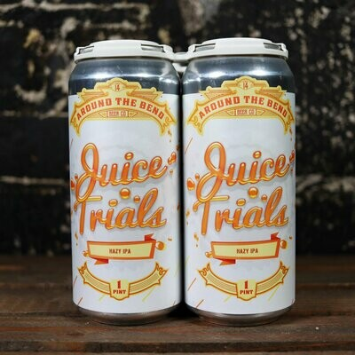 Around The Bend Juice Trials DDH IPA 16 FL. OZ. 4PK Cans