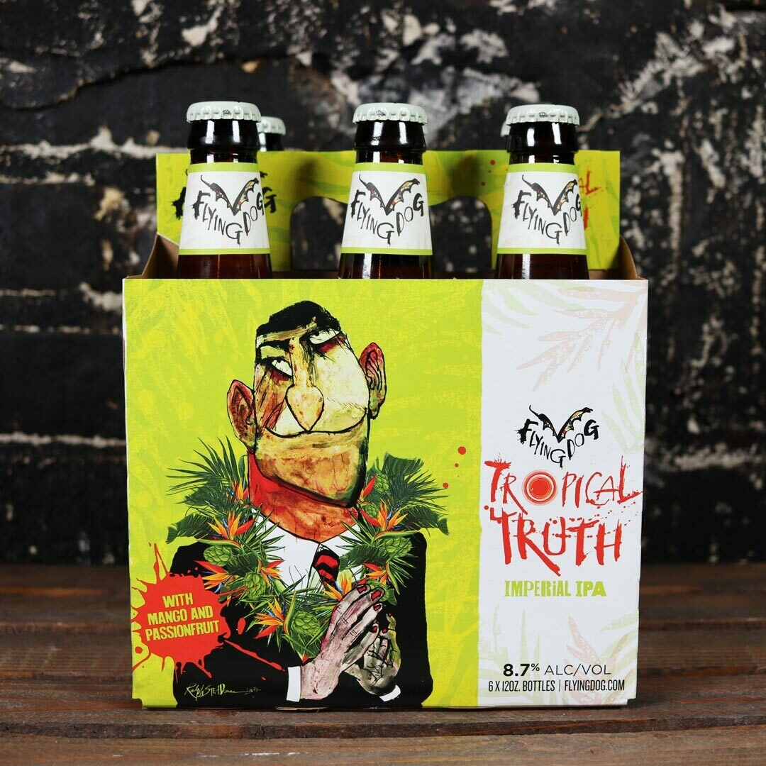 Flying Dog Tropical Truth Imperial IPA w/Mango & Passionfruit 12 FL. OZ. 6PK