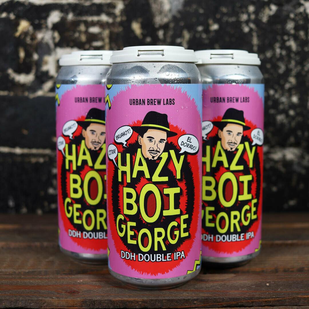 Urban Brew Labs Hazy Boi George DDH DIPA 16 FL. OZ. 4PK Cans