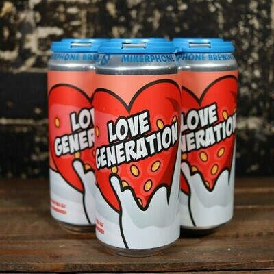 Mikerphone Love Generation Strawberry Milkshake IPA 16 FL. OZ. 4PK Cans