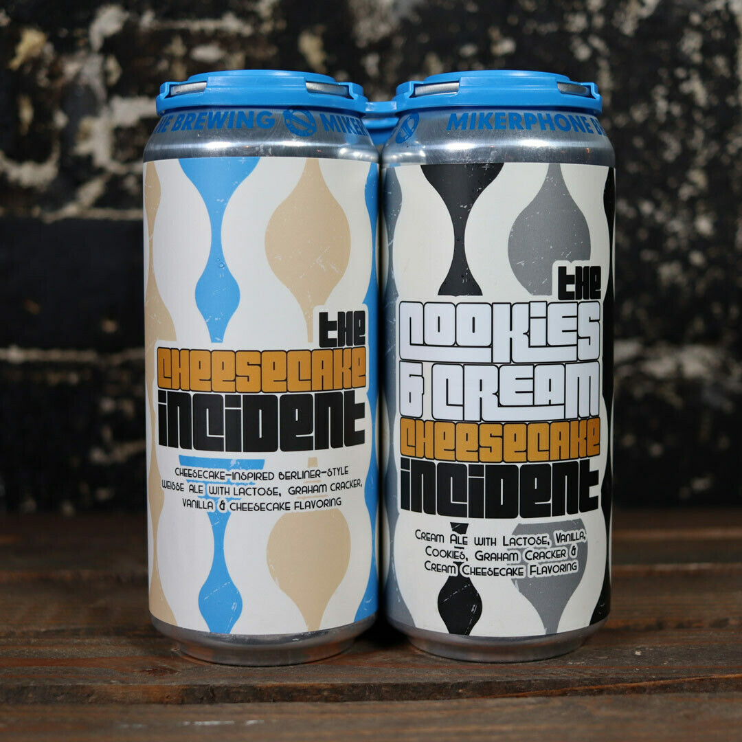 Mikerphone The Cheesecake Incident Mixed Pack Cheesecake Inspired Berliner Weisse/Cream Ale 16 FL. OZ. 4PK Cans