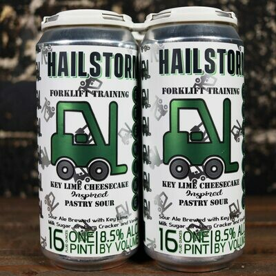 Hailstorm Forklift Training Key Lime Cheesecake Inspired Pastry Sour 16 FL. OZ. 4PK Cans
