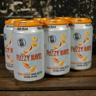 Oddside Fuzzy Navel Hard Seltzer 12 FL. OZ. 6PK Cans