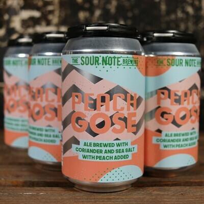 Sour Note Brewing Peach Gose 12 FL. OZ. 6PK Cans