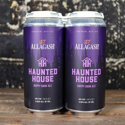 Allagash Haunted House Hoppy Dark Ale 16 FL. OZ. 4PK Cans