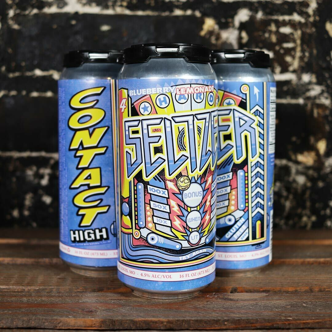4 Hands Contact High Hard Seltzer Blueberry Lemonade 16 FL. OZ. 4PK Cans
