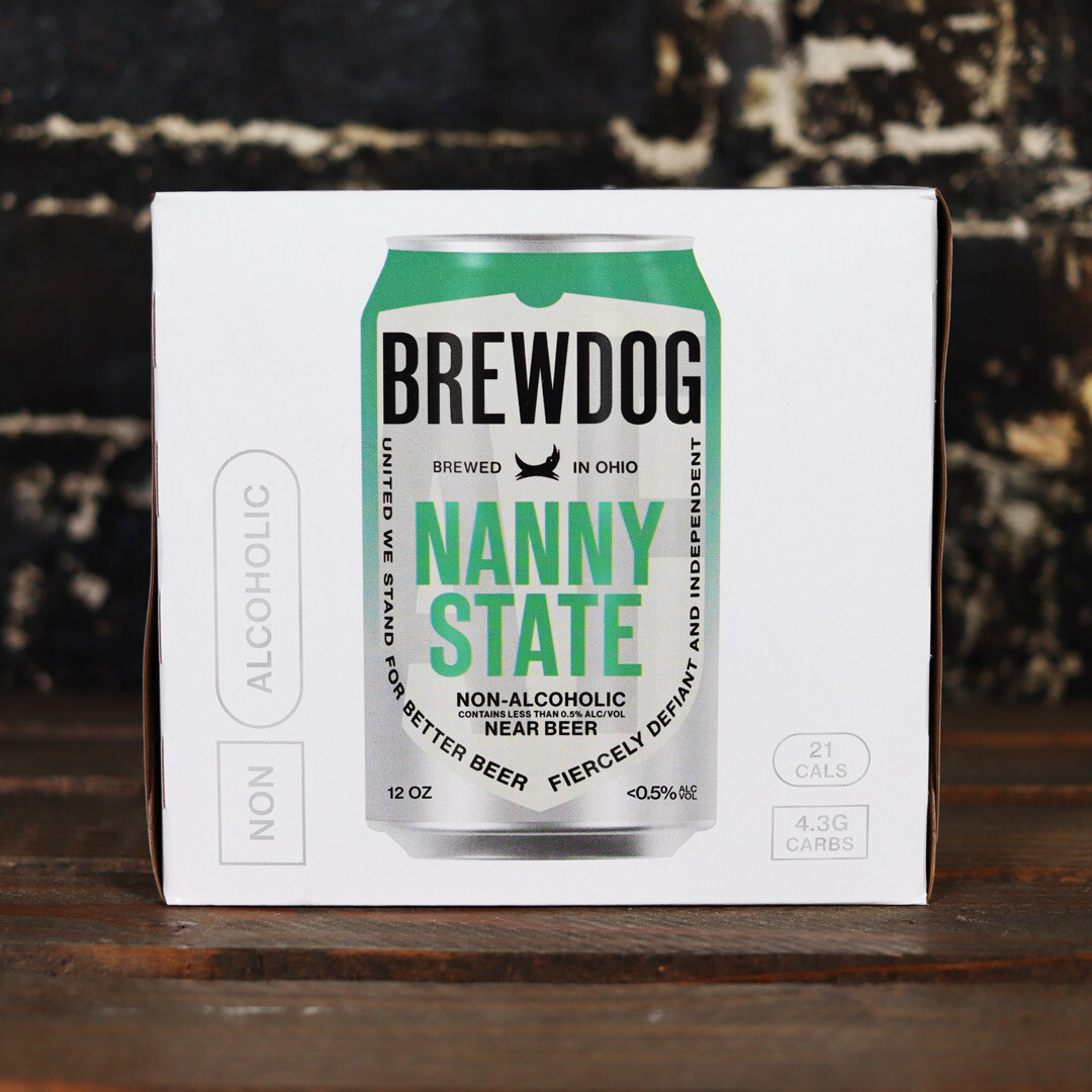 Brew Dog Nanny State 0.5% ABV Hoppy Ale 12 FL. OZ. 4PK Cans