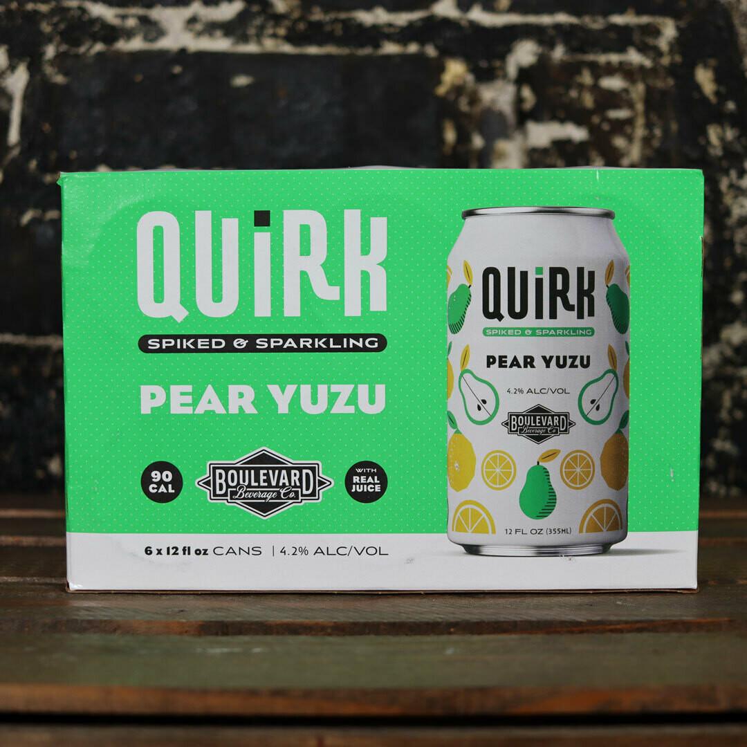 Boulevard Pear Yuzu Quirk Hard Seltzer 12 FL. OZ. 6PK Cans
