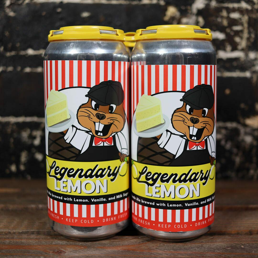 Lil Beaver Legendary Lemon Blonde Ale w/Lemon, Vanilla, Milk Sugar 16 FL. OZ. 4PK Cans
