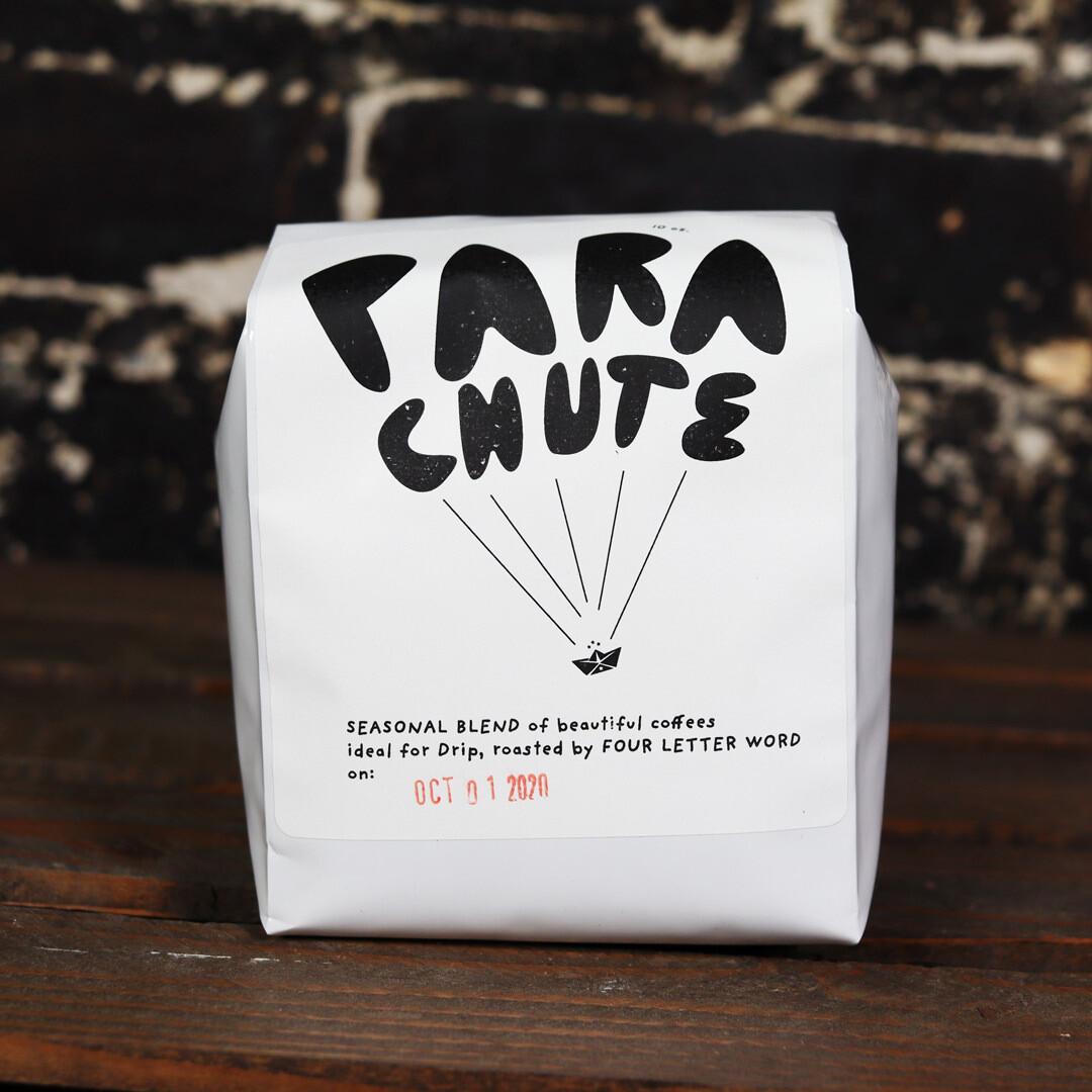 Four Letter Word Parachute Blend Whole Bean Coffee 10 OZ Bag