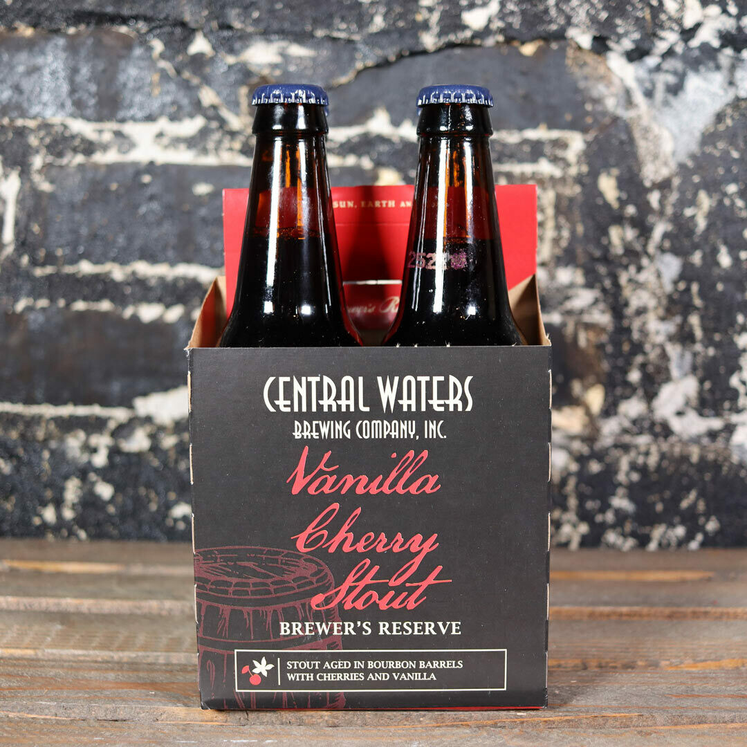 Central Waters Vanilla Cherry Stout 12 FL. OZ. 4PK