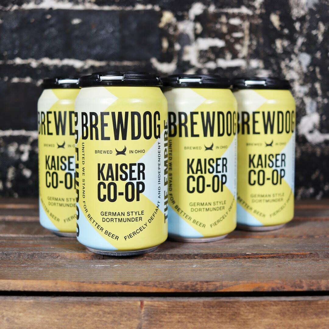Brew Dog Kaiser Co-Op Dortmunder 12 FL. OZ. 6PK Cans