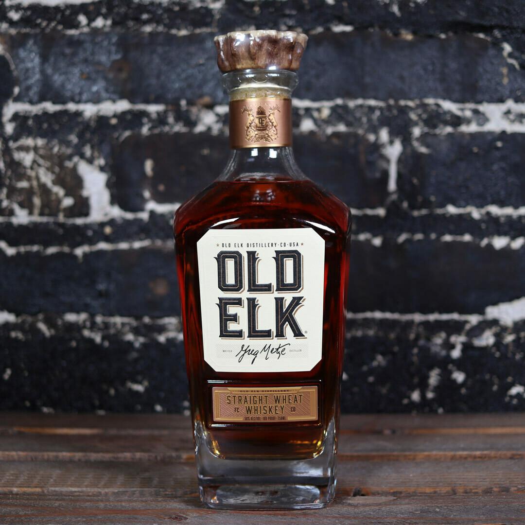 Old Elk Straight Wheat Whiskey 750ml.