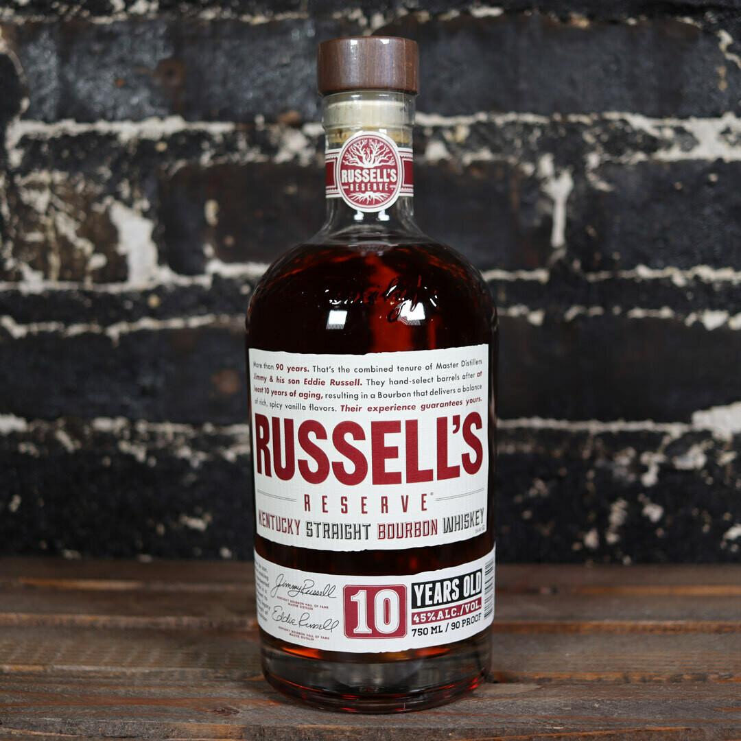 Russell's Reserve Kentucky Straight Bourbon Whiskey 10 Yr 750ml.