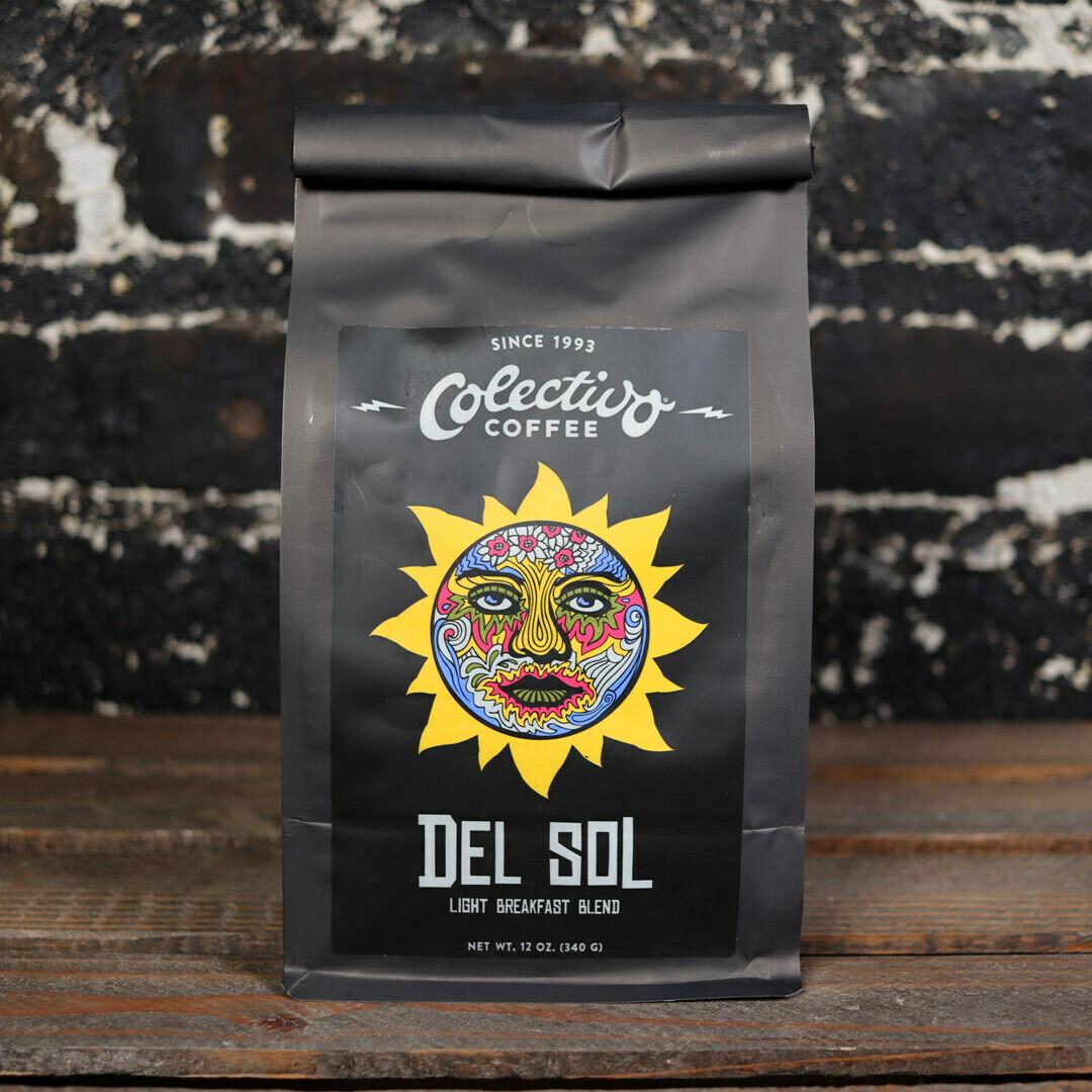 Colectivo Del Sol Light Breakfast Blend Whole Bean Coffee 12 OZ. Bag