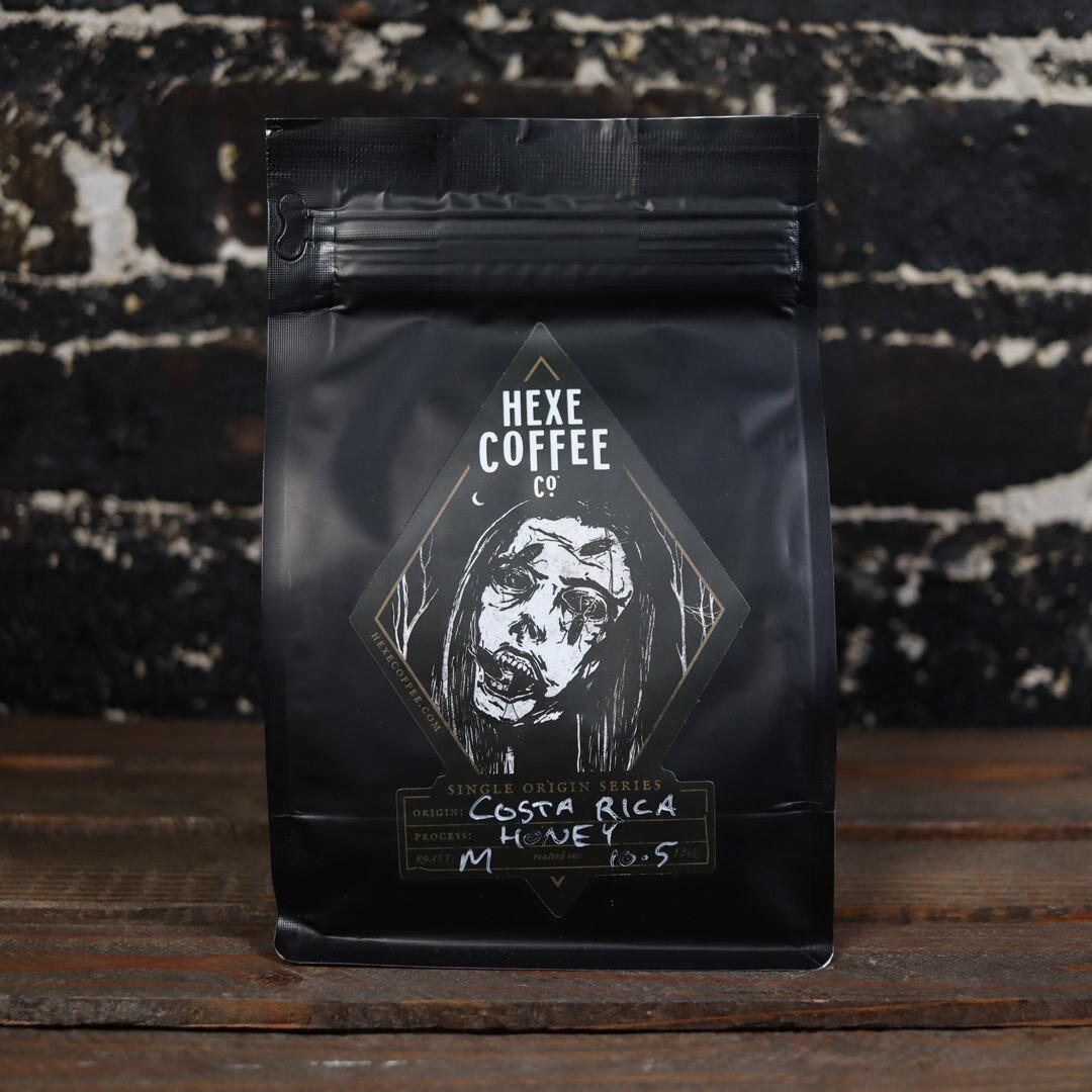 Hexe Single Origin Costa Rica Whole Bean Coffee 12 OZ Bag