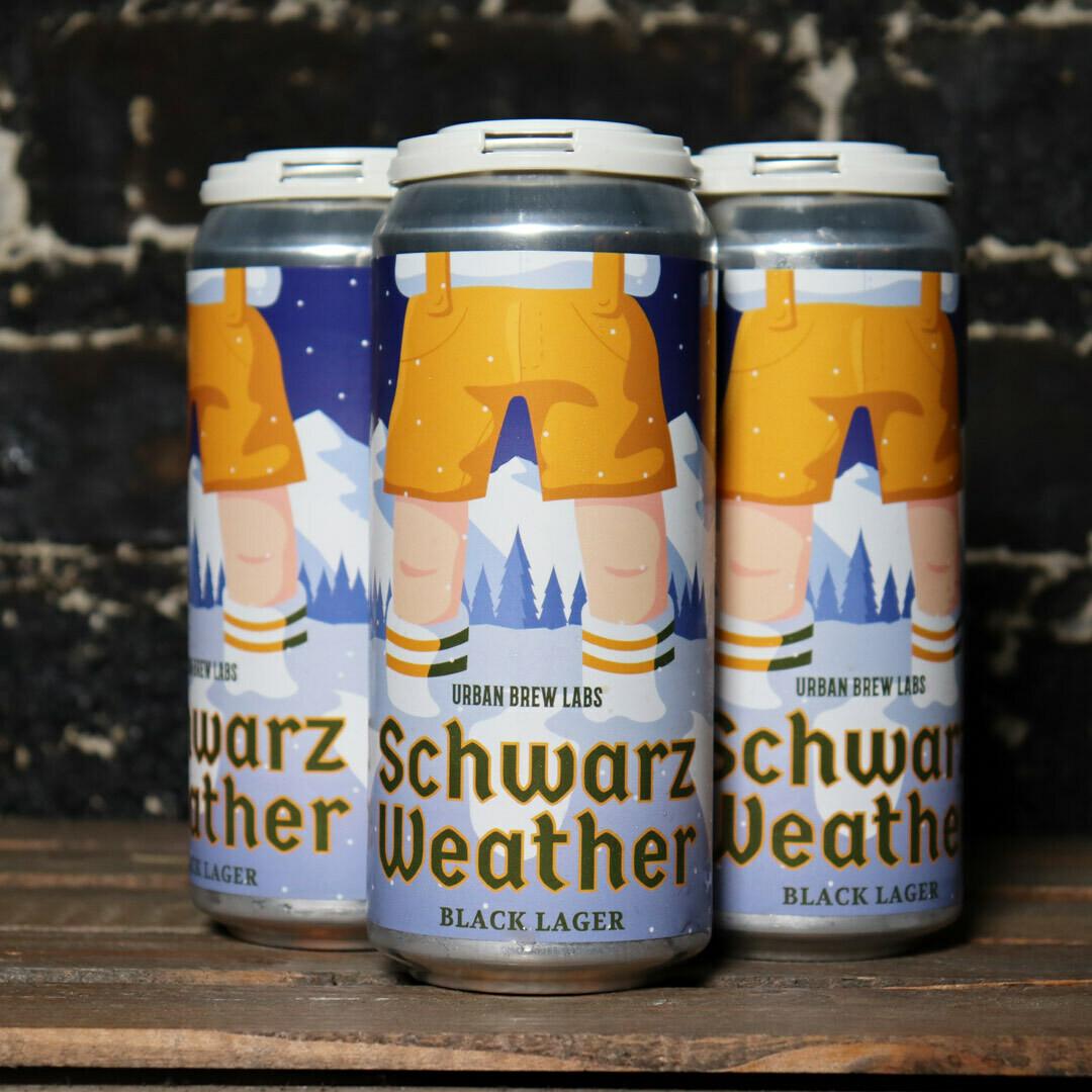 Urban Brew Labs Schwarz Weather Black Lager 16 FL. OZ 4PK Cans
