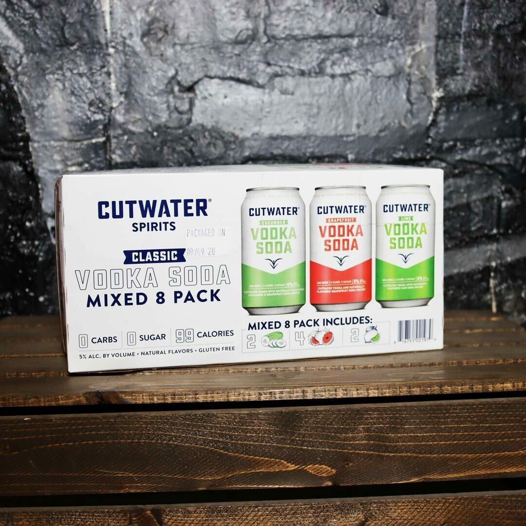 Cutwater Vodka Soda Variety Pack 12 FL. OZ. 8PK Cans