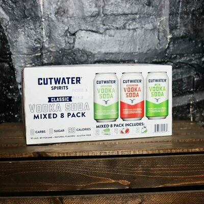 Cutwater Vodka Soda Variety Pack 12 FL. OZ. 8PK Cans