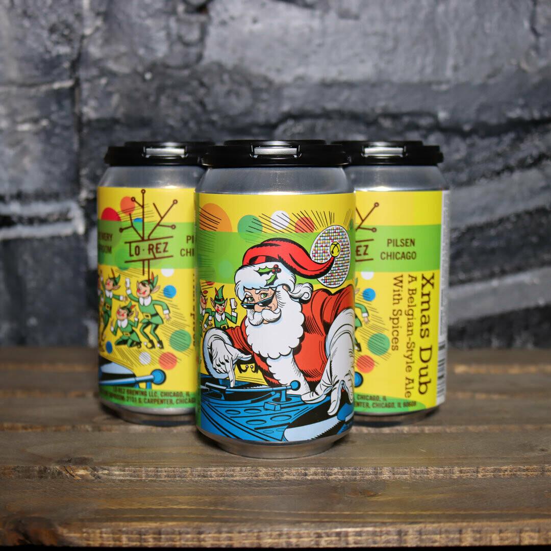 Lo Rez Xmas Dub Belgian Style Ale w/Spices 12 FL. OZ. 4PK Cans