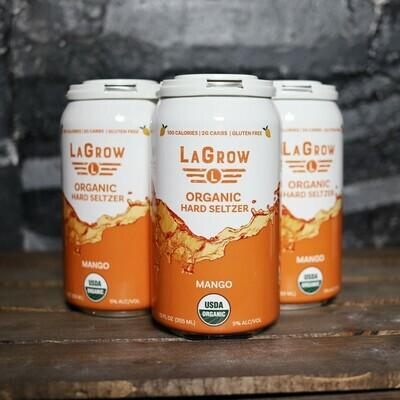 LaGrow Organic Mango Hard Seltzer 12 FL. OZ. 4PK Cans