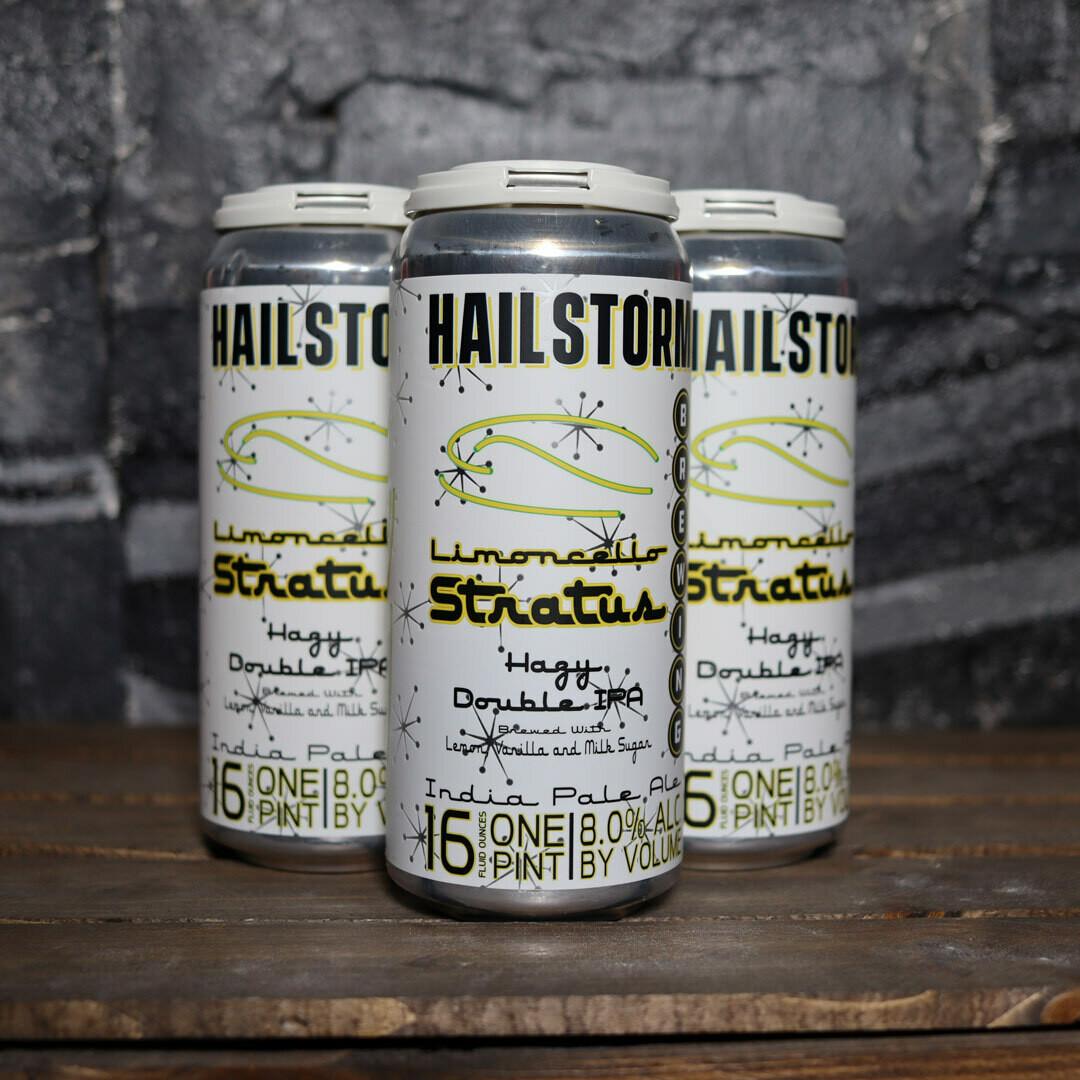 Hailstorm Limoncello Stratus NE DIPA 16 FL. OZ. 4PK Cans
