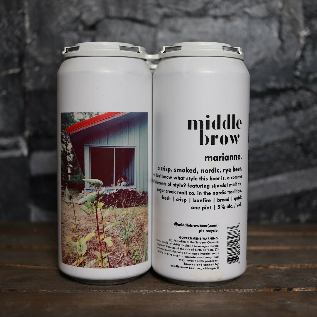 Middle Brow Marianne Smoked Nordic Rye Ale 16 FL. OZ. 4PK Cans