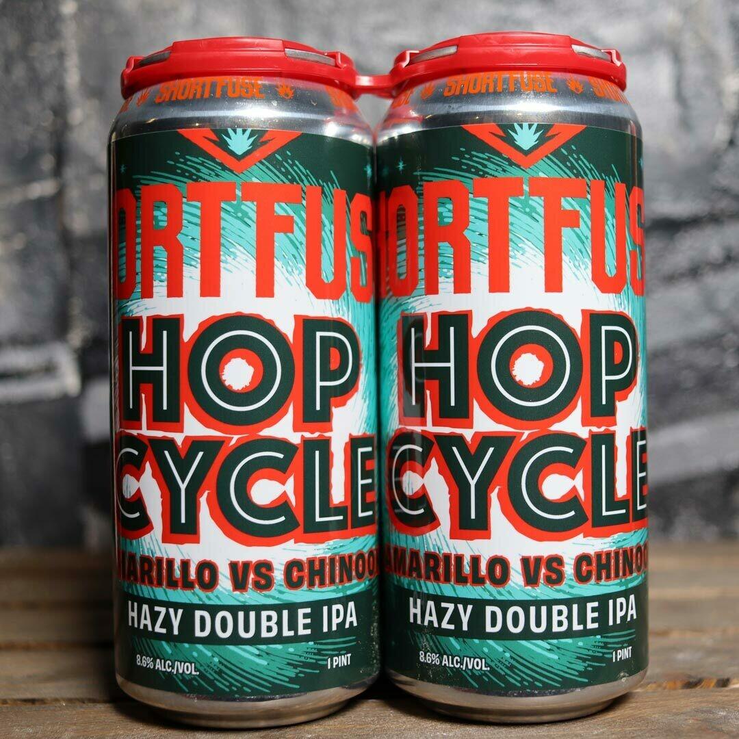 Short Fuse Hop Cycle Hazy DIPA 16 FL. OZ. 4PK Cans