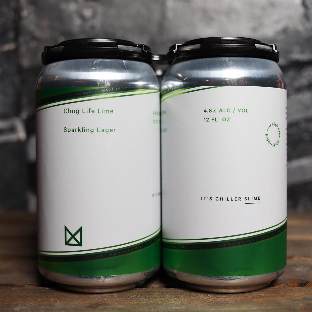 Marz Chug Life Lime Sparkling Lager 12 FL. OZ. 4PK Cans