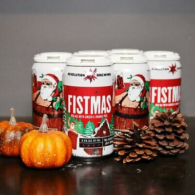 Revolution Fistmas Red Ale w/Ginger & Orange Peel 12 FL. OZ. 6PK Cans