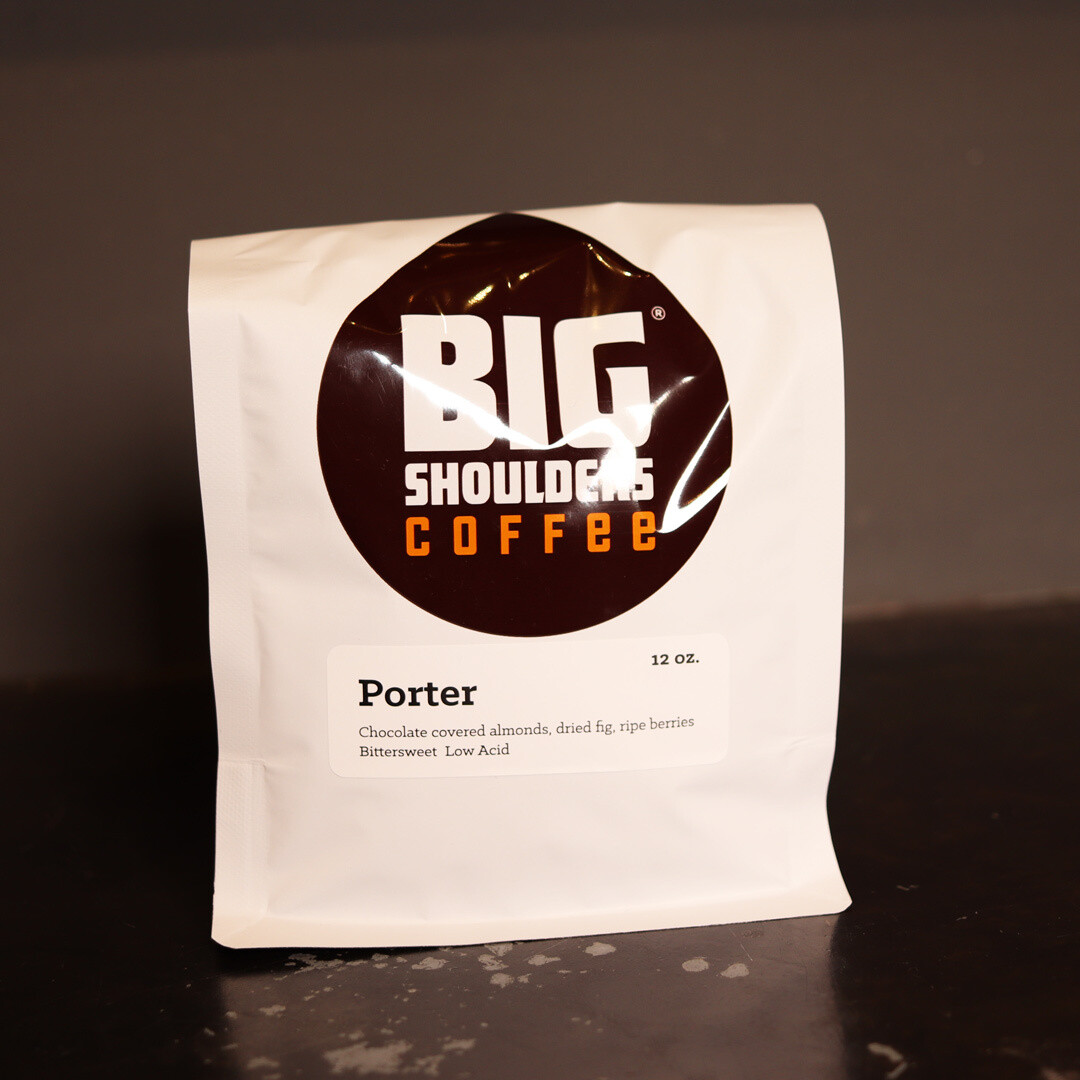 Big Shoulders Porter Whole Bean Coffee 12oz Bag