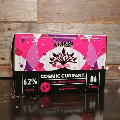 2 Towns Cider Cosmic Currant 12 FL. OZ. 6PK Cans