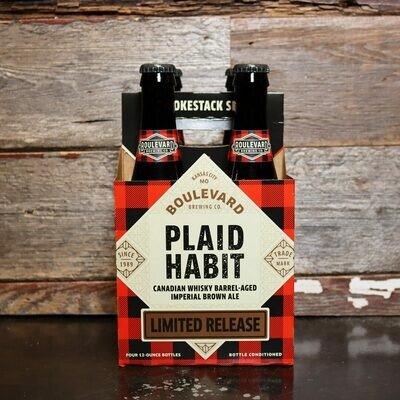 Boulevard Plaid Habit BA Imperial Brown Ale 12 FL. OZ. 4PK