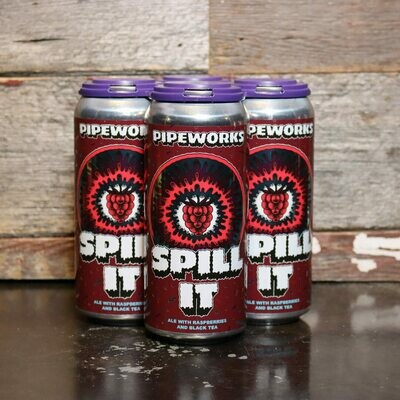 Pipeworks Spill It Ale w/Raspberries & Black Tea 16 FL. OZ. 4PK Cans