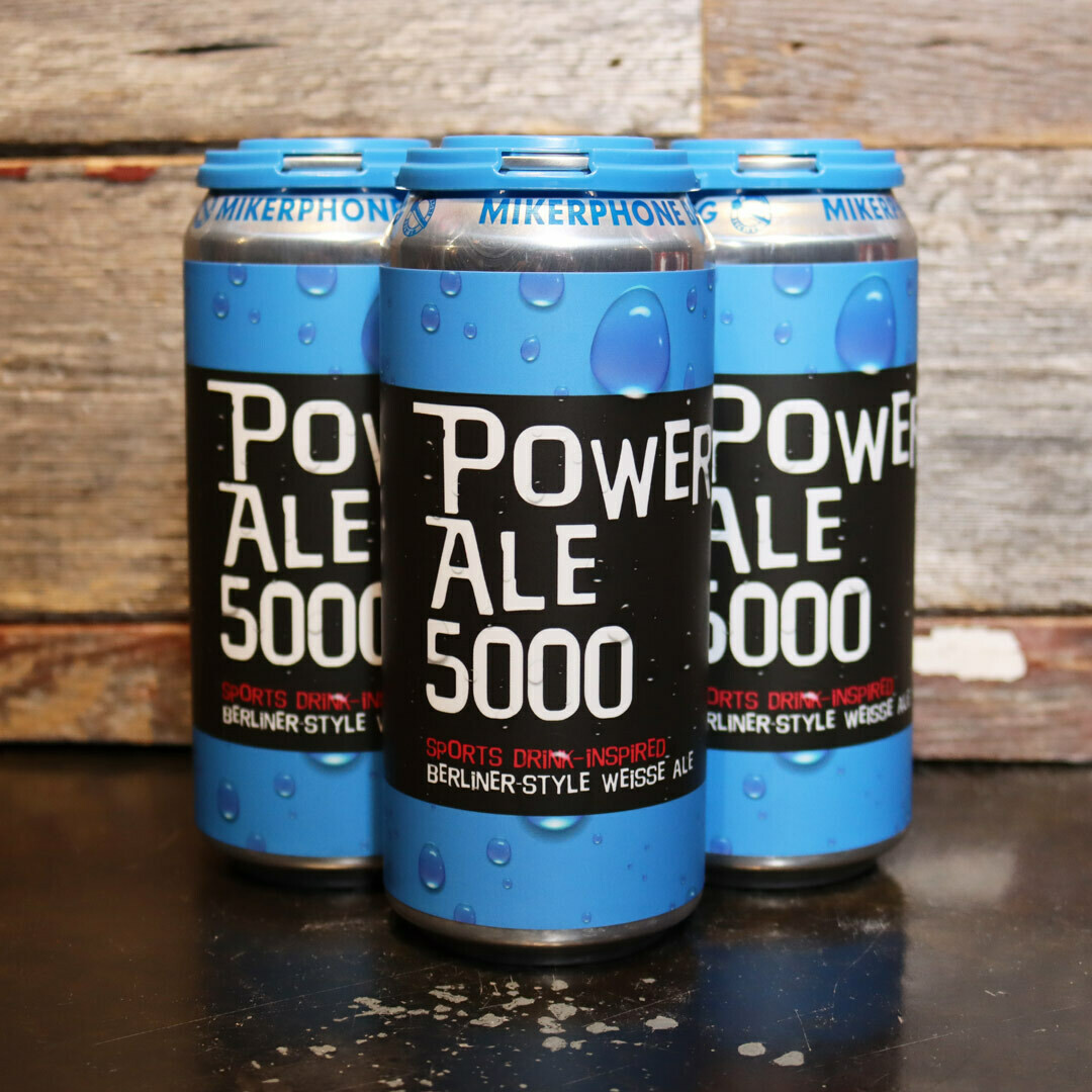 Mikerphone Power Ale 5000 Berliner Weisse Ale 16 FL. OZ. 4PK Cans