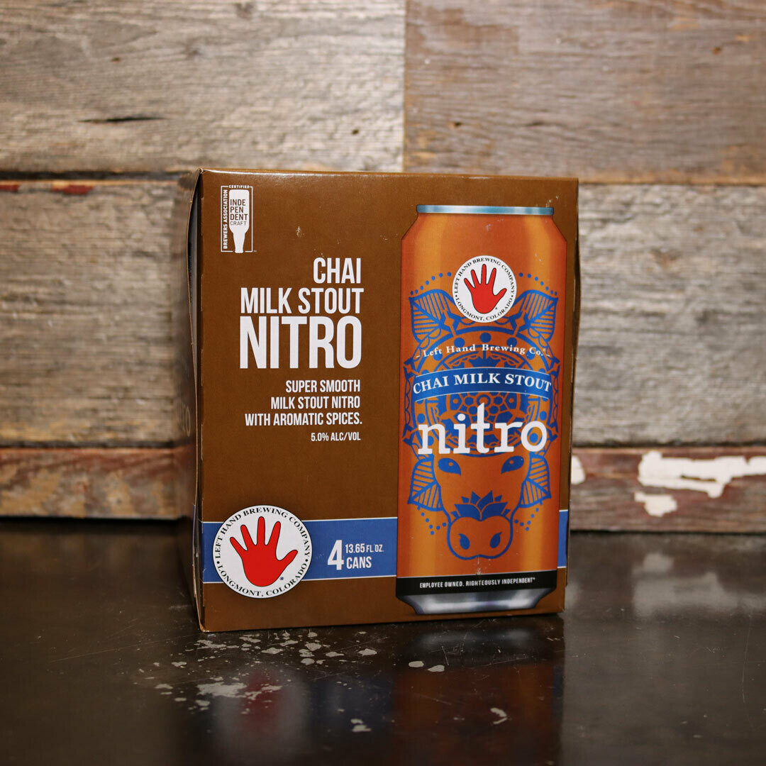 Left Hand NITRO Chai Milk Stout 13.65 FL. OZ. 4PK Cans