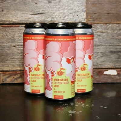 WeldWerks Watermelon Cotton Candy Sour Wheat Ale 16 FL. OZ. 4PK Cans