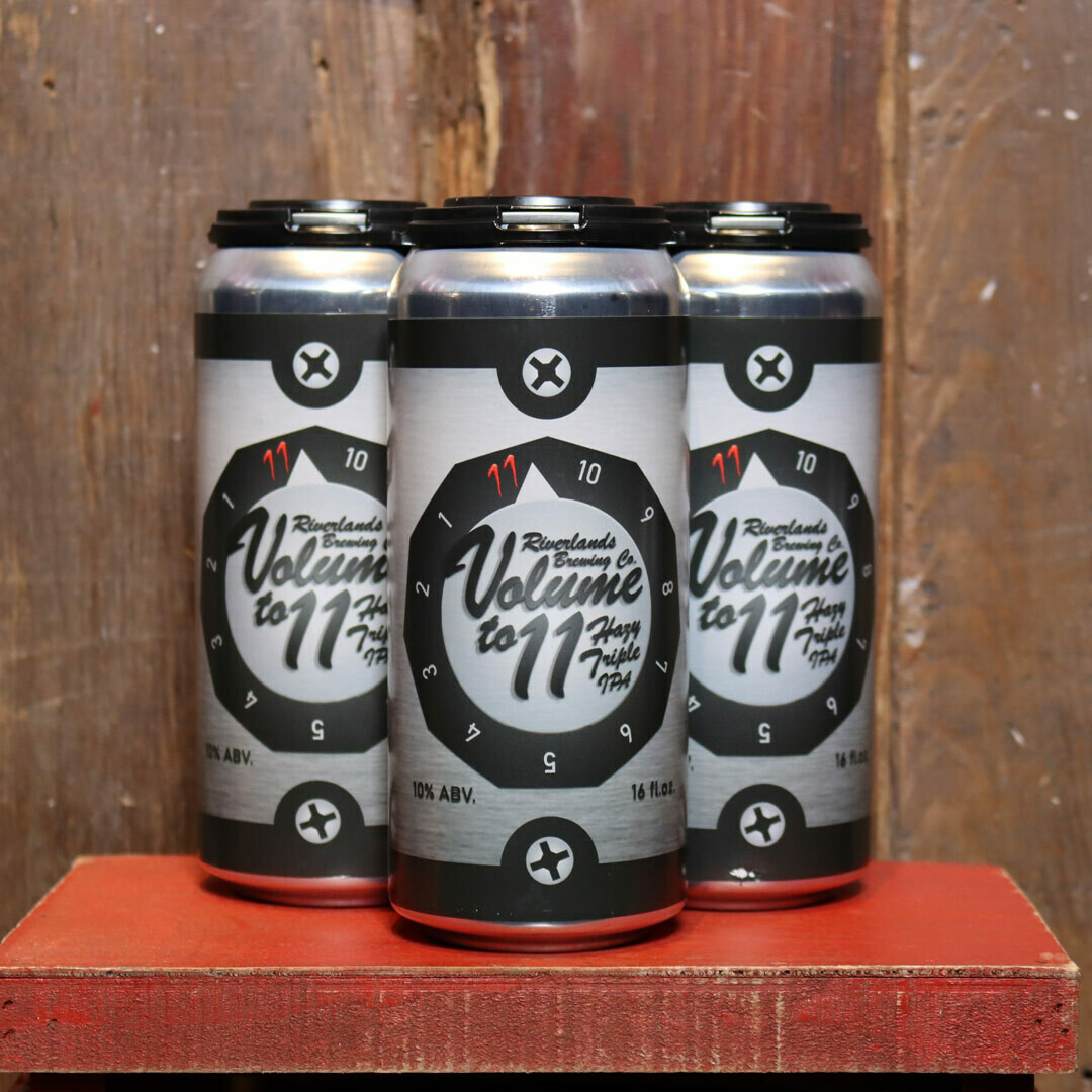 Riverlands Volume To 11 Hazy Triple IPA 16 FL. OZ. 4PK Cans