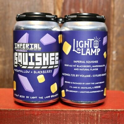 Light The Lamp Imperial Squishee Sour Ale w/Blackberry & Marshmallow 12 FL. OZ. 4PK Cans