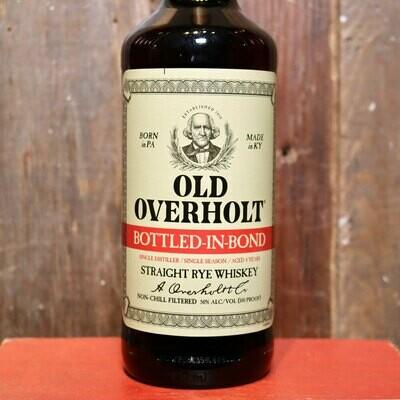 Old Overholt Bottled In Bond Straight Rye Whiskey 750ml.