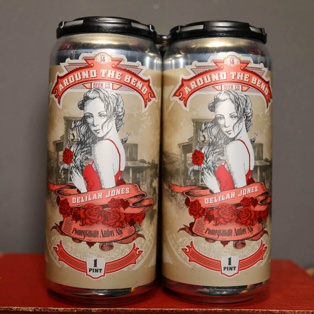 Around The Bend Delilah Jones Pomegranate Amber Ale 16 FL. OZ. 4PK Cans