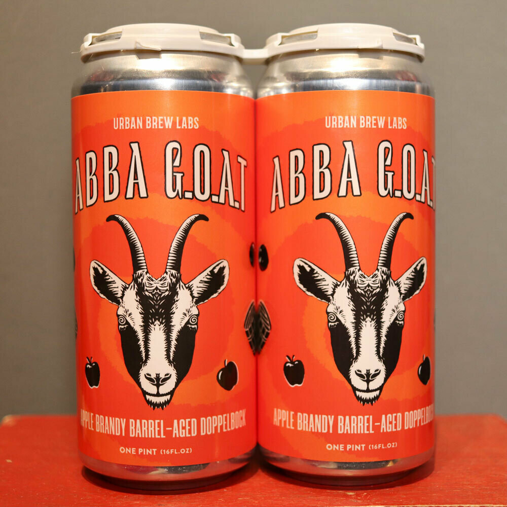 Urban Brew Labs ABBA G.O.A.T. Apple Brandy Barrel Aged Doppelbock 16 FL. OZ. 2PK Cans