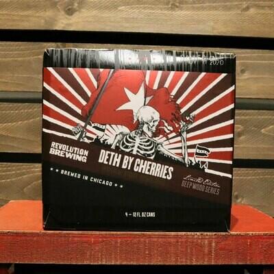 Revolution Deth By Cherries BA Stout 12 FL. OZ. 4PK Cans