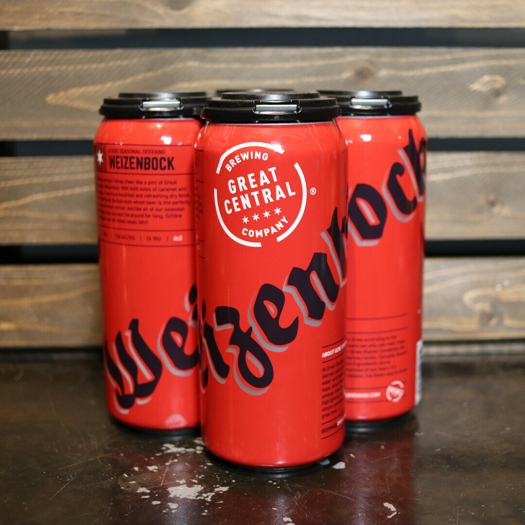 Great Central Weizenbock 16 FL. OZ. 4PK Cans